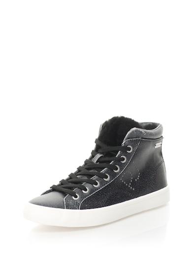 Pepe Jeans London Pantofi sport inalti de piele sintetica Clinton Sally Femei