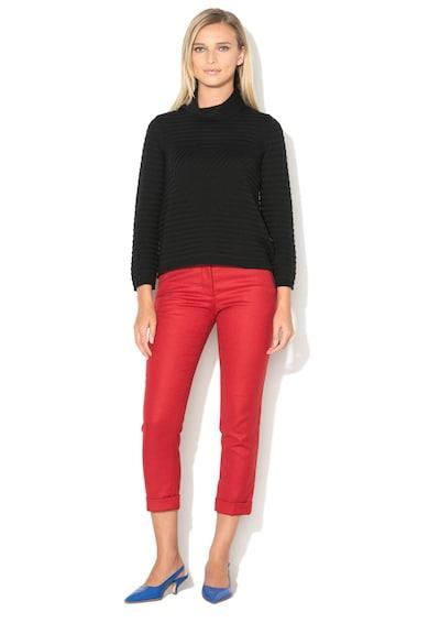Love Moschino Вълнен пуловер с навита яка Жени