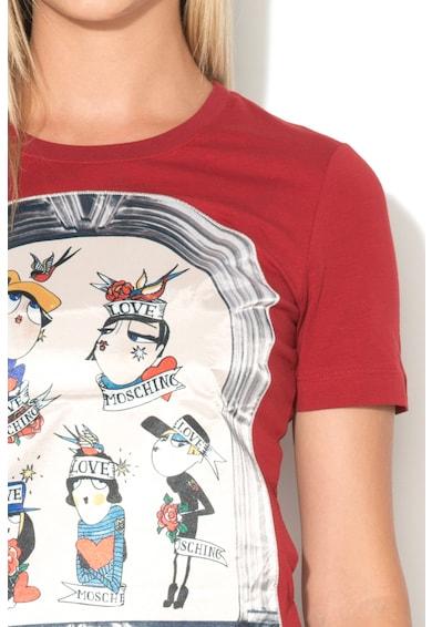 Love Moschino Tricou cu aplicatie frontala Femei