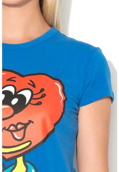 Love Moschino Tricou cu imprimeu frontal cauciucat Femei