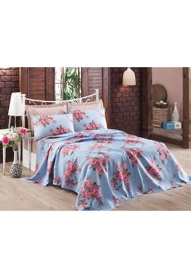 Eponj Home Lenjerie de pat pentru 2 persoane  Arya, cu cuvertura, 100% bumbac, Albastru deschis Femei