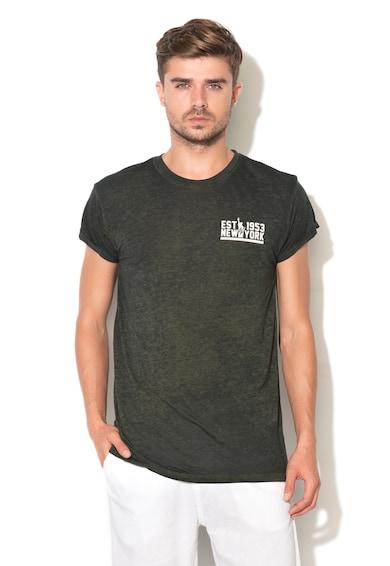 Alcott Тениска с черна текстова щампа Мъже