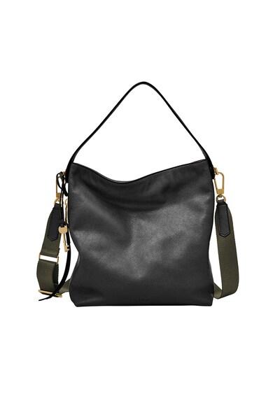 Fossil Кожена чанта с текстилна презрамка Жени