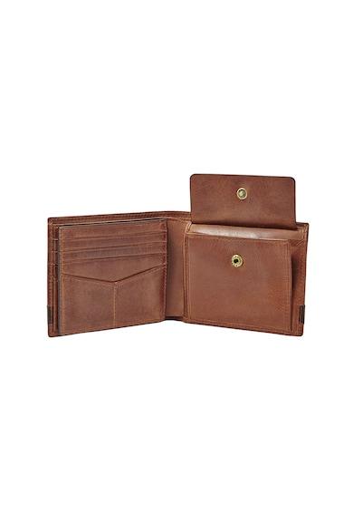 Fossil Кожен портфейл с двойно прегъване и лого Мъже