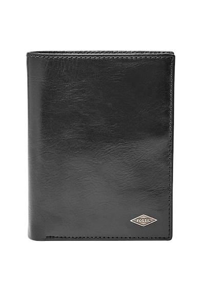 Fossil Кожен портфейл с двойно прегъване и система за сигурност RFID Мъже