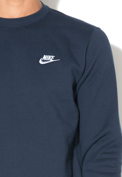 Nike Bluza sport cu decolteu la baza gatului, Bleumarin, L Barbati