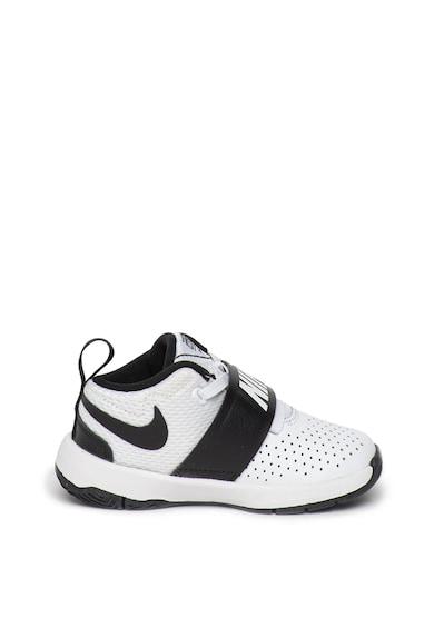 Nike Pantofi sport cu garnituri de piele, pentru baschet Team Hustle D 8 Fete