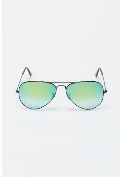 Ray-Ban Unisex Fekete Aviator Tükrös Napszemüveg női