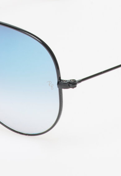 Ray-Ban Ochelari de soare aviator negri cu lentile oglinda, unisex Barbati