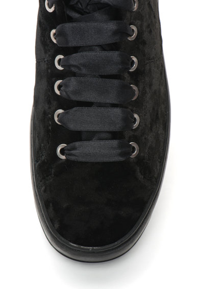 Bronx Pantofi sport de catifea cu garnitura de piele lacuita Femei