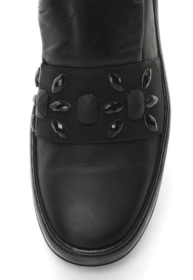 Bronx Pantofi slip-on de piele cu strasuri Femei