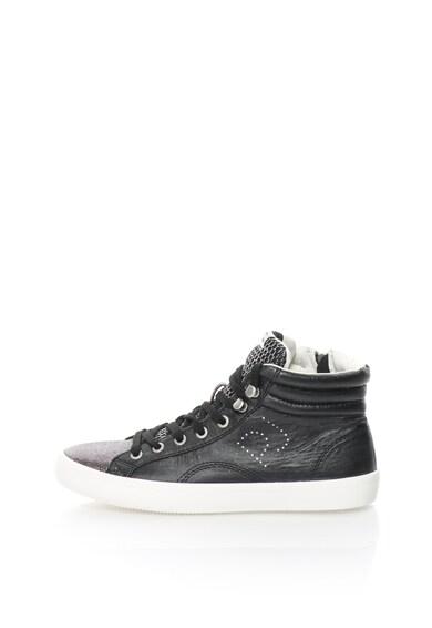 Pepe Jeans London Pantofi sport mid-high stralucitori Clinton Femei