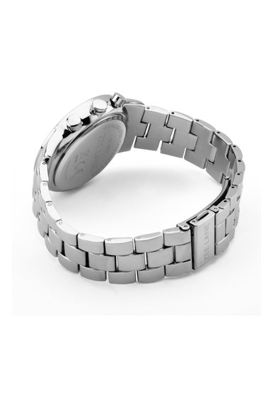 Zee Lane Collection Ceas cronograf rotund, Argintiu/Negru Barbati