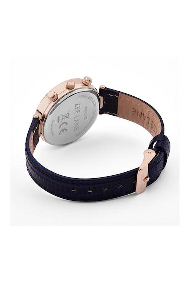 Zee Lane Collection Часовник с хронограф и кожена каишка, Тъмносин Жени