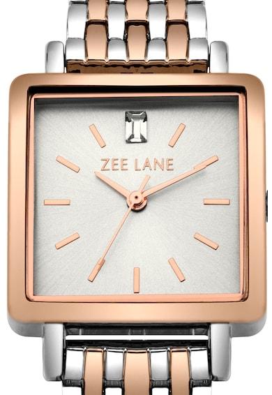 Zee Lane Collection Ceas cu detaliu din cristal, Argintiu/Auriu rose Femei