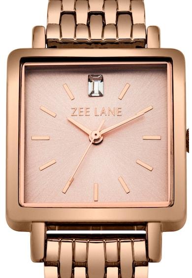Zee Lane Collection Ceas cu detaliu din cristal, Auriu rose Femei