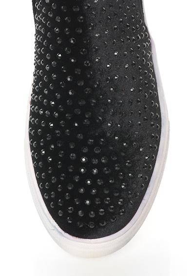 Oakoui Pantofi slip-on catifelati cu aplicatii de strasuri Eva Femei