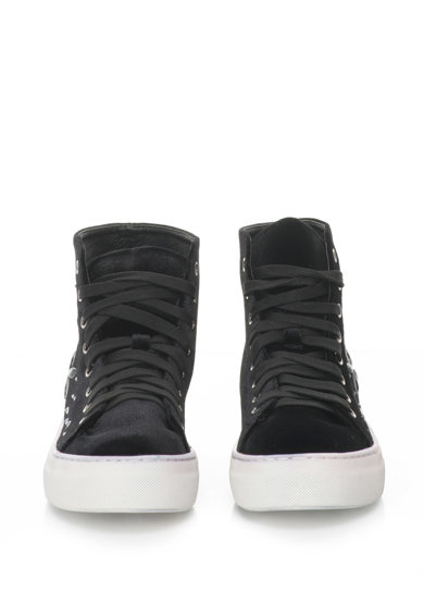 Oakoui Eva magas szárú flatform cipő strasszkövekkel női