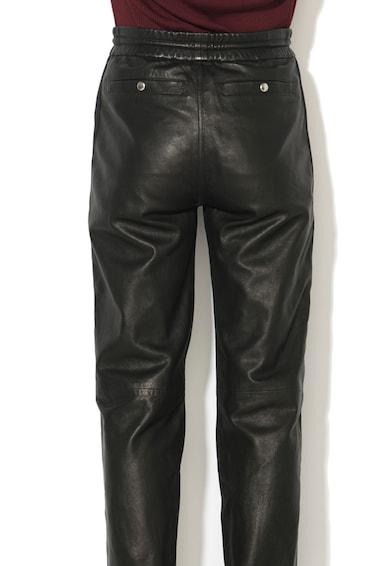 Diesel Black Gold Pantaloni de piele cu slituri cu fermoar Pezunet Femei