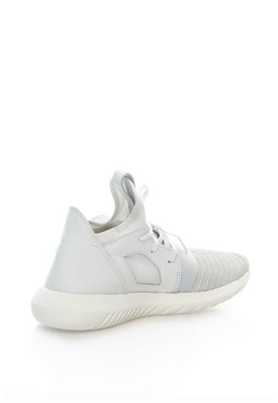 Adidas ORIGINALS Tubular Defiant Világosszürke Sneakers Cipő Bőrrészletekkel női