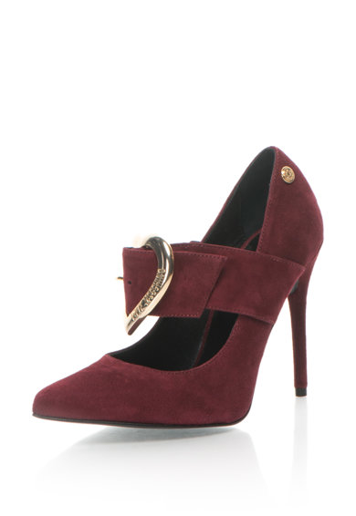 Love Moschino Pantofi de piele intoarsa cu varf ascutit Femei