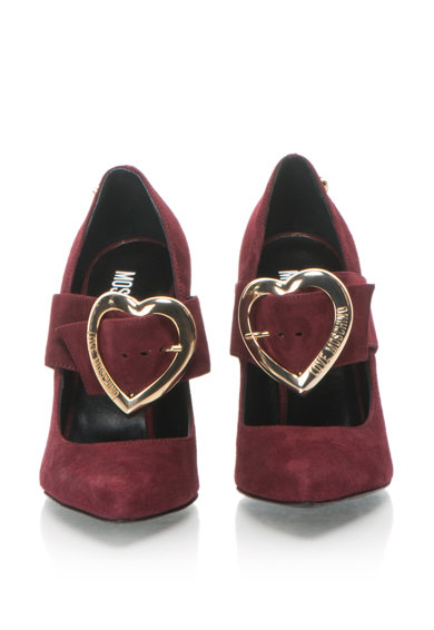 Love Moschino Nyersbőr Hegyes Orrú Cipő női