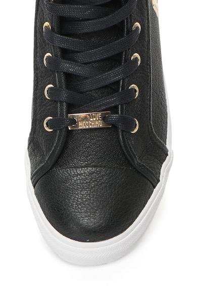 Love Moschino Pantofi sport inalti de piele Femei