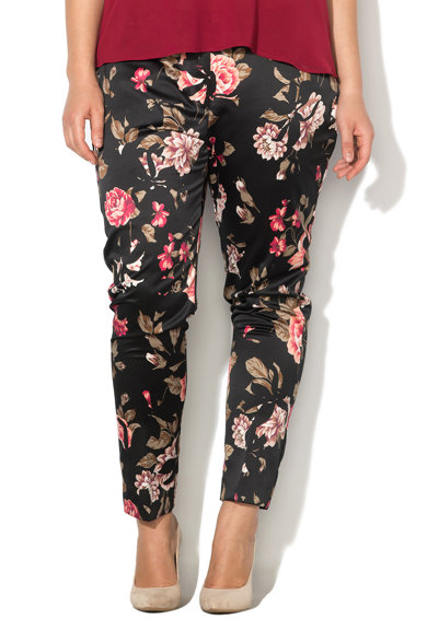 PERSONA BY MARINA RINALDI Pantaloni crop cu imprimeu floral Ribes Femei