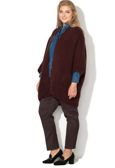 PERSONA BY MARINA RINALDI Cardigan tricotat fara inchidere Mambo Femei