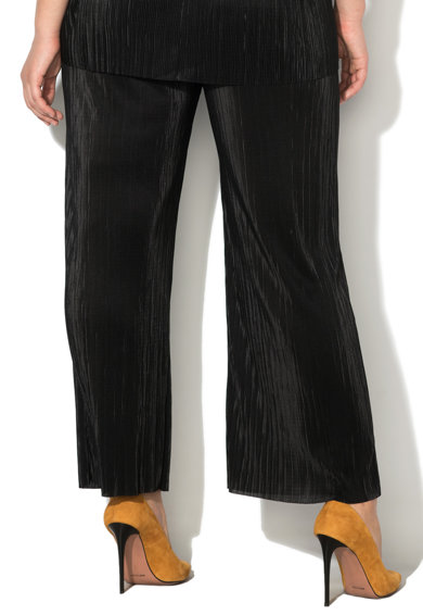 PERSONA BY MARINA RINALDI Pantaloni cu croiala ampla, pliuri si talie elastica Onice Femei