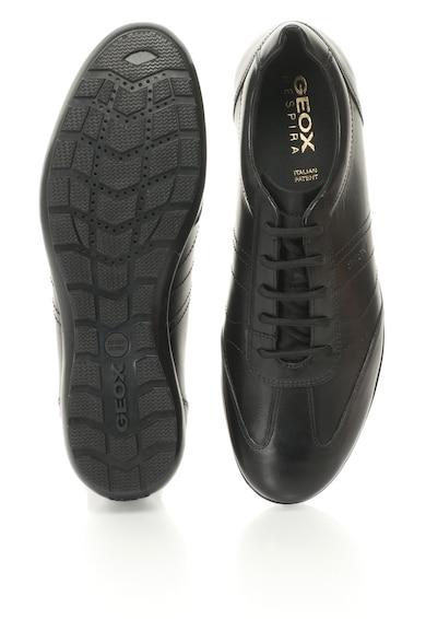 Geox Pantofi casual de piele cu insertii de plasa Symbol Barbati