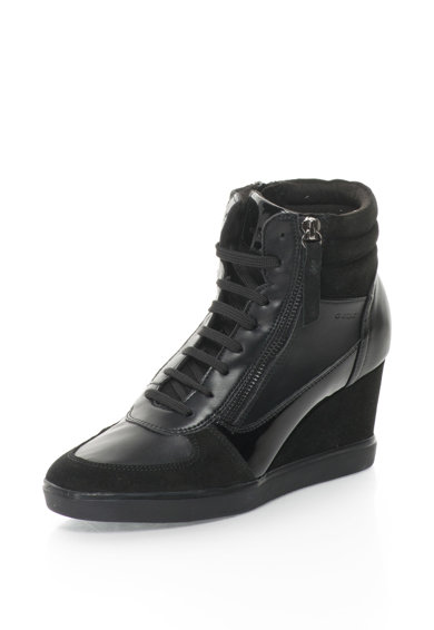 Geox Eleni Telitalpú Sneakers Cipő Nyersbőr Szegélyekkel női