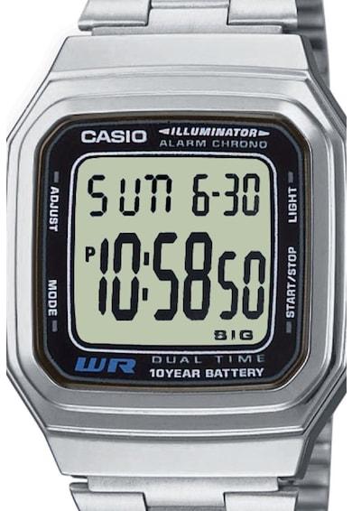 Casio Ceas digital cronograf cu o bratara metalica Barbati