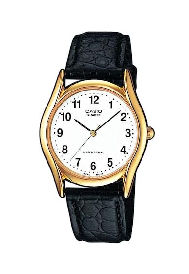 Casio Часовник Collection с кожена каишка с екзотичен релеф Мъже