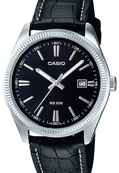 Casio Часовник Collection с кожена каишка Мъже