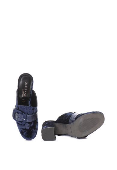 Zee Lane Collection Кадифени чехли с масивен ток Жени