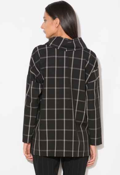Zee Lane Collection Bluza cu croiala lejera in carouri Femei