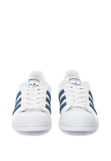 Adidas ORIGINALS Pantofi sport cu piele Superstar, Alb/Bleumarin Barbati
