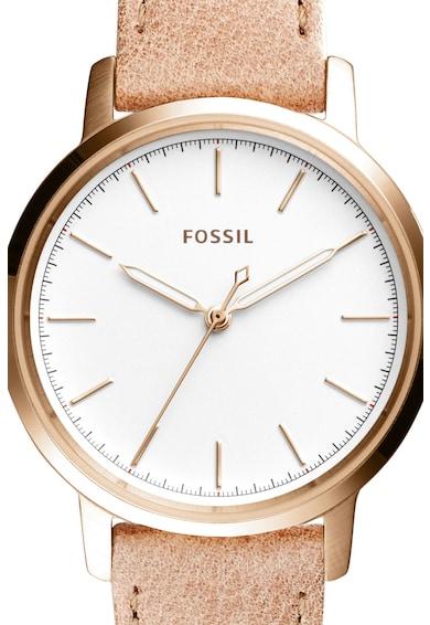 Fossil Часовник Nelly с кожена каишка Жени