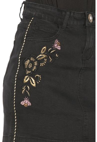 DESIGUAL Fusta din denim cu flori brodate Femei
