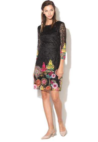 DESIGUAL Rochie din dantela cu imprimeu floral Chipi Femei