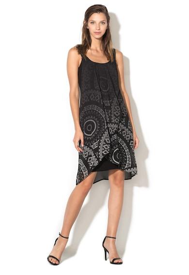 DESIGUAL Разкроена рокля с горен пласт на шарки Жени