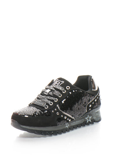 Laura Biagiotti Pantofi sport cu paiete si aplicatie metalica Femei