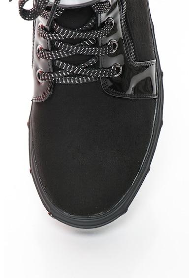 Laura Biagiotti Спортни обувки от изкуствен велур с лъскави връзки, Черен Жени