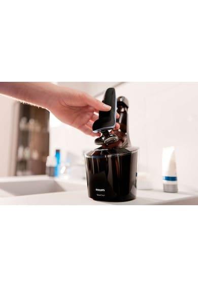 Philips Самобръсначка  S9111/31, Wet & Dry, Акумулатор, 3 Аксесоара, 3 Глави, Самопочистване, Тример, Черна Мъже