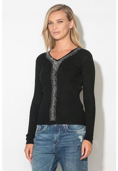 Zee Lane Pulover din tricot cu striatii si strasuri Femei
