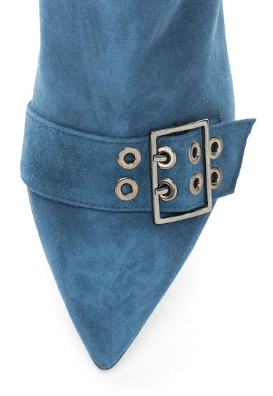 Zee Lane Botine de piele intoarsa decorate cu barete si catarame Femei