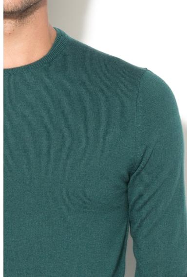 GUESS JEANS Пуловер с вълна и рипсени маншети и подгъв Мъже