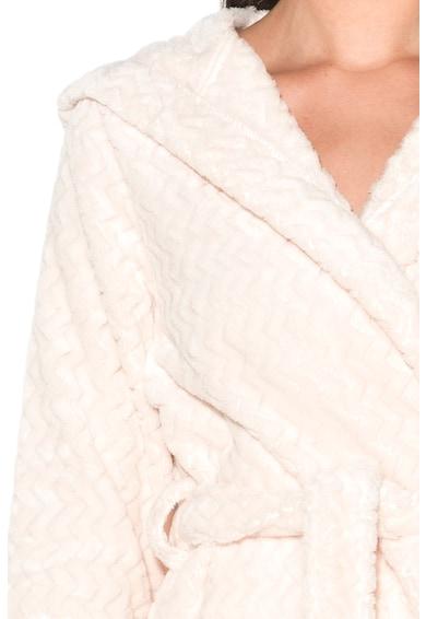 Skiny Halat de baie din material moale, cu model chevron Femei
