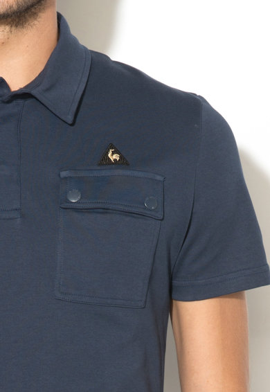 Le Coq Sportif Тениска с джоб на гърдите и яка Мъже